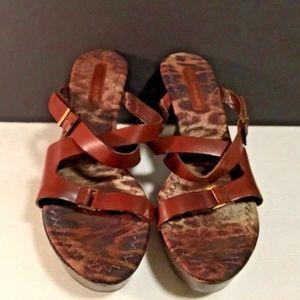 "ENZO Angiolini Heels Womens Shoes Wedge 3.5"" sz 9"